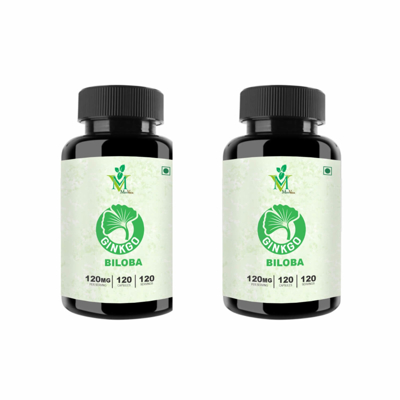 Picture of Ginkgo Biloba (Pack of 2/ Veg. 120 Capsules each)