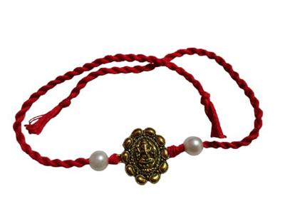 Ganesh Design With Beads Rakhi_Jain Marketplace