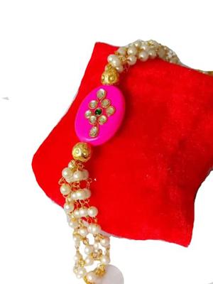 Classic Moti Bracelet Rakhi_Jain Marketplace