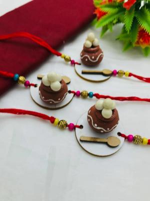 Matki Of Rasgulla Shape Rakhi_Jain Marketplace