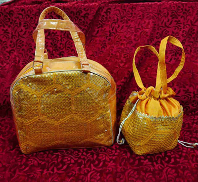 Resham work with Sequence Bag Batwa set