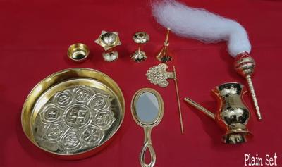 Asthaprakar Pooja Set,  Brass Material